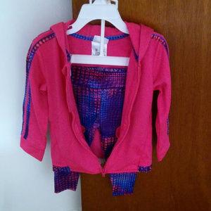 Adidas Childs Girls Tricot Legging & Jacket Set